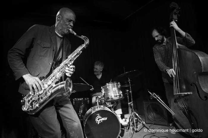 Charles Gayle trio, Charles Gayle saxophone, Giovanni Barcella drums, Brice Soniano contrebasse, free jazz, liège, music, live, concert, © photo dominique houcmant