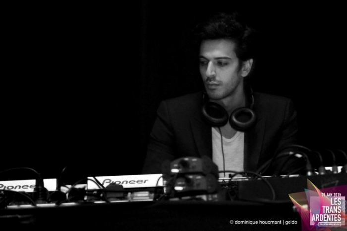 Portrait on stage de Gesaffelstein, Mike Lévy, dj set, electro, techno, les transardentes, festival, Liège, music, © photo dominique houcmant