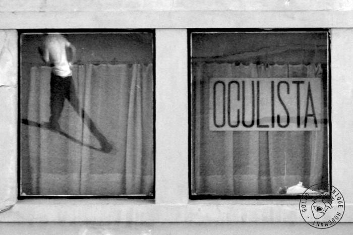 homme, fenêtre, reflet, Porto, portugal