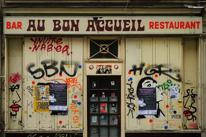 vitrine, Paris, bar, bistrot, restaurant, au bon accueil, boulevard de charonne,