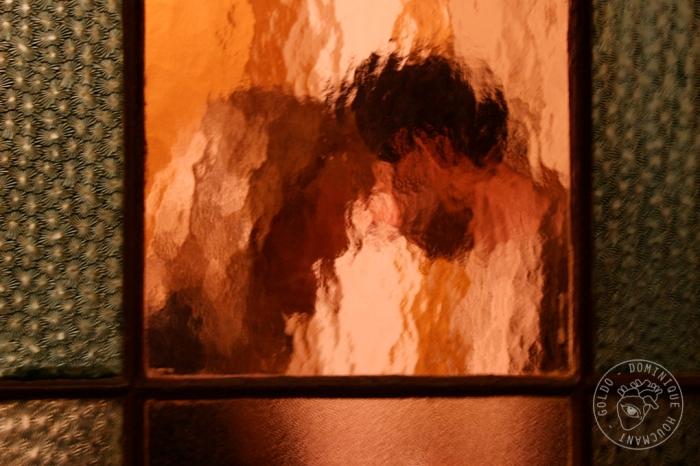 couple, porte, vitre, silhouette, homme, femme, poésie